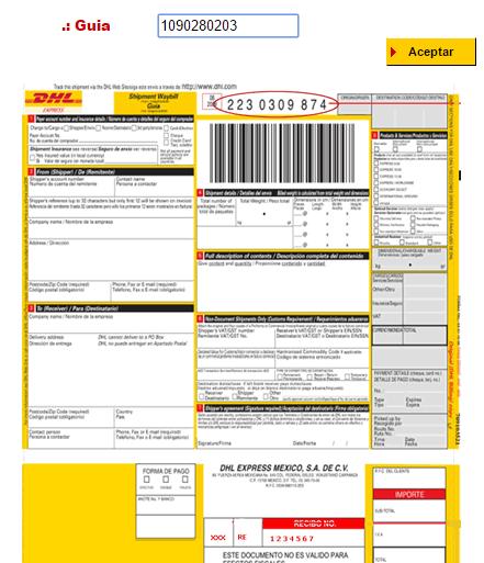 Numero de Guia DHL Colombia