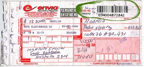 Rastreo por numero de guia envia Colombia