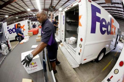 Entrega de Paquetes Fedex en la central